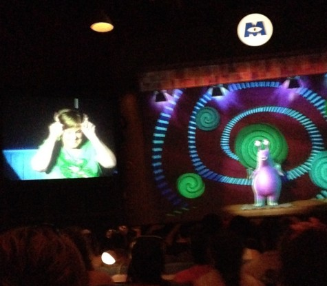 Senior Trip Highlight: Mrs. Shaner featured in Monsters, Inc Show