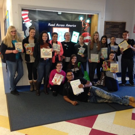 Book Club reads to ECEC students