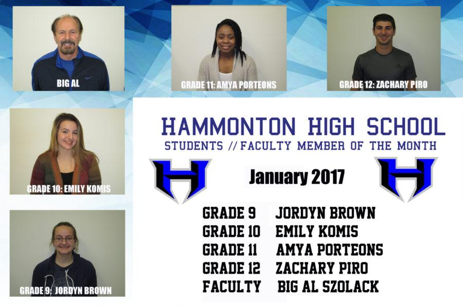 January 2017 Students-Faculty Member of the Month