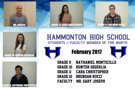 February 2017 students and faculty member of the month