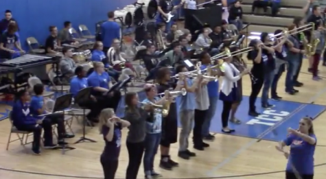 Marching Band and Guard Performance: 16-17 Fall Pep Rally