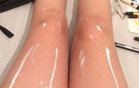 Shiny or White Paint? Legs cause controversy online and in the hallways