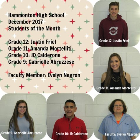 May 2017 Faculty Member and Students of the Month