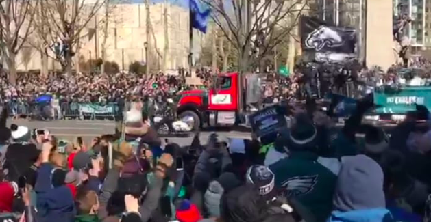 Students share pictures, video from Eagles parade
