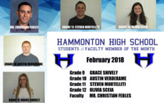 February 2018 Students and Faculty Member of the Month