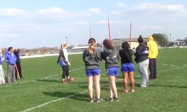 Girls track competes at first meet