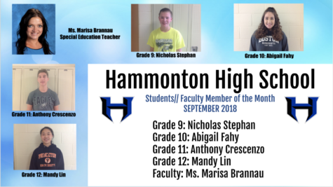 Students and Faculty Member of the Month: September 2018