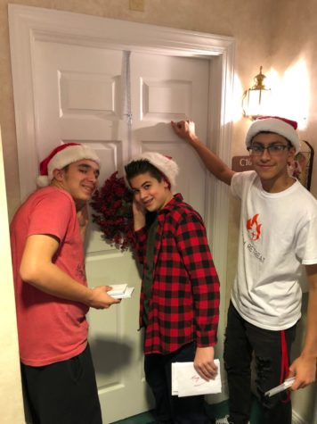 Students spread holiday cheer at assisted living