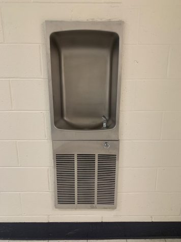 Water fountains like the one located by the Performing Arts Center would benefit from a filtration system.