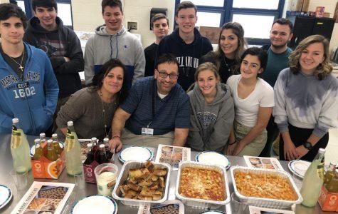 Italian 3 students make gnocchi with Chef Lou