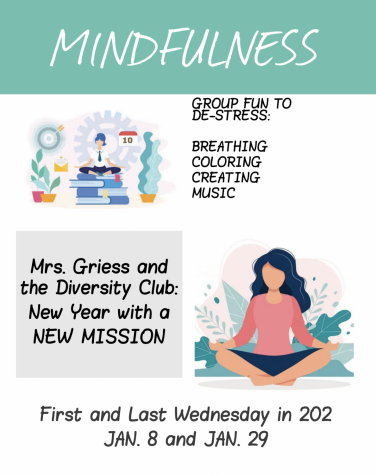 Diversity Club will meet Jan. 8 to focus on mindfulness