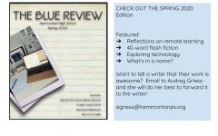 Spring edition of Blue Review released