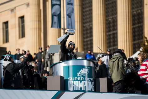 """Governor Wolf Attends Philadelphia Eagles Super Bowl LII Victory Parade"" by governortomwolf is licensed under CC BY 2.0"